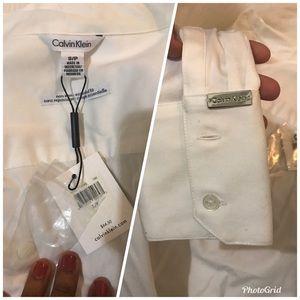 Calvin Klein Tops - Calvin Klein nwt White Button Down Small